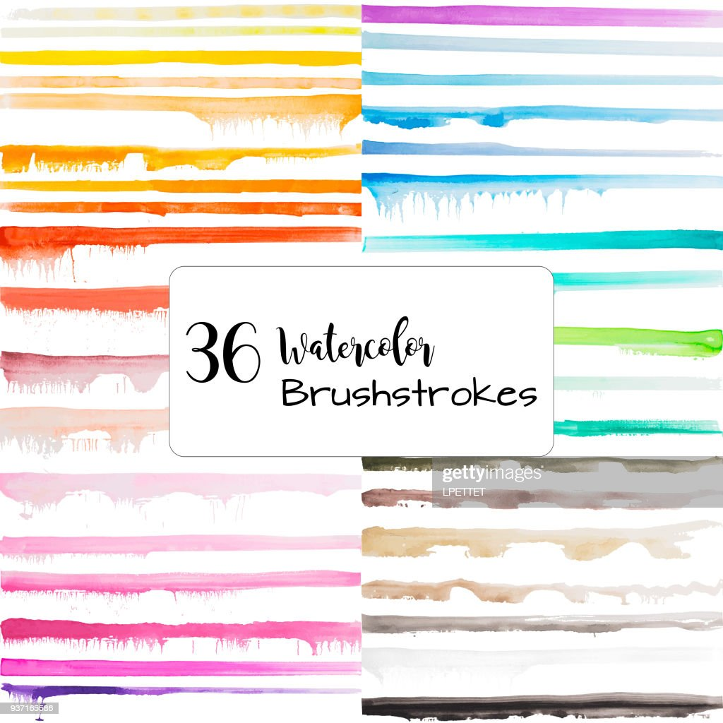 Watercolor Brushstrokes