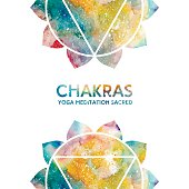 Watercolor chakras background