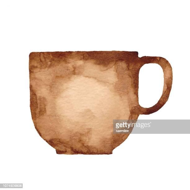 ilustraciones, imágenes clip art, dibujos animados e iconos de stock de taza de café acuarela - chocolate caliente