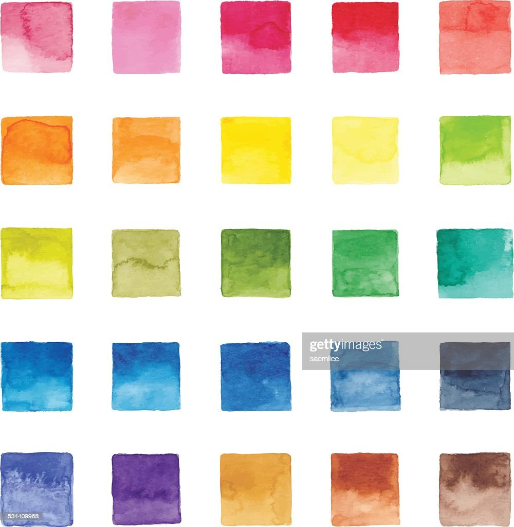 Watercolor Color Chart