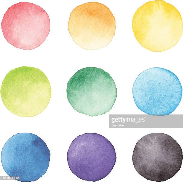 watercolor dots - spotted stock illustrations