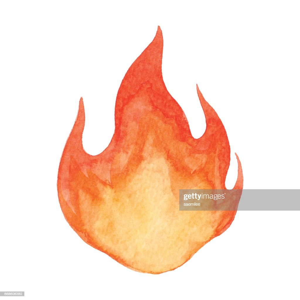 Watercolor Flame : stock illustration
