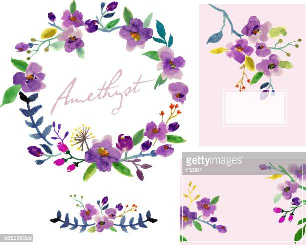 Watercolor Floral Design Set