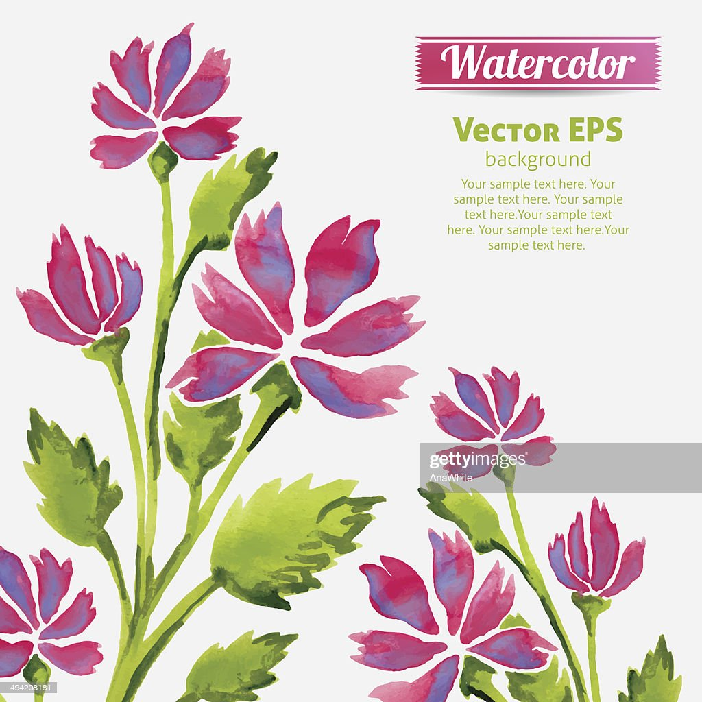 Watercolor flowers invitation pattern with ribbon vector art getty watercolor flowers invitation pattern with ribbon vector art stopboris Gallery