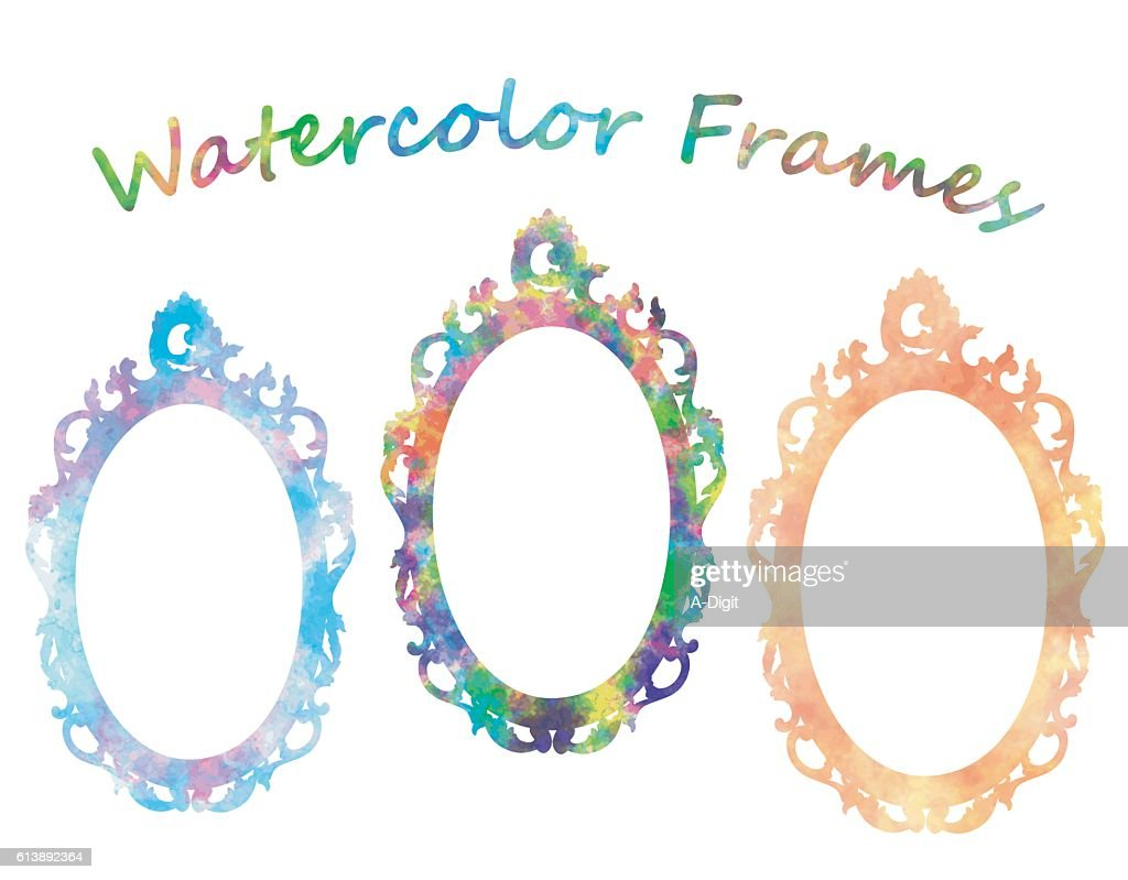 Watercolor Frames Vector Art | Getty Images