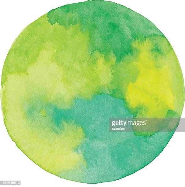 watercolor green circle - planet erde stock-grafiken, -clipart, -cartoons und -symbole