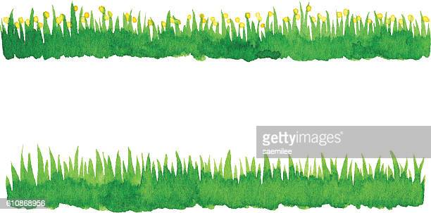 Watercolor Green Grass