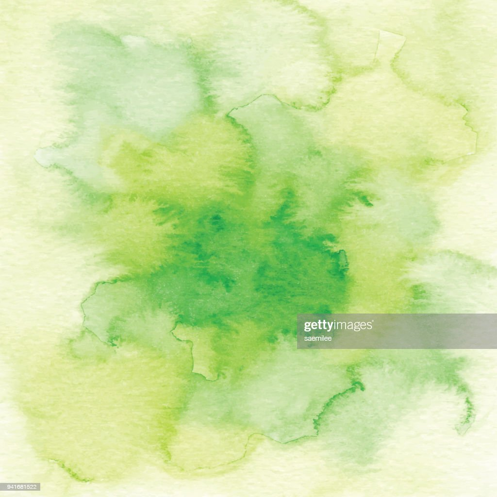 Watercolor Green Ombre Background Vector Art