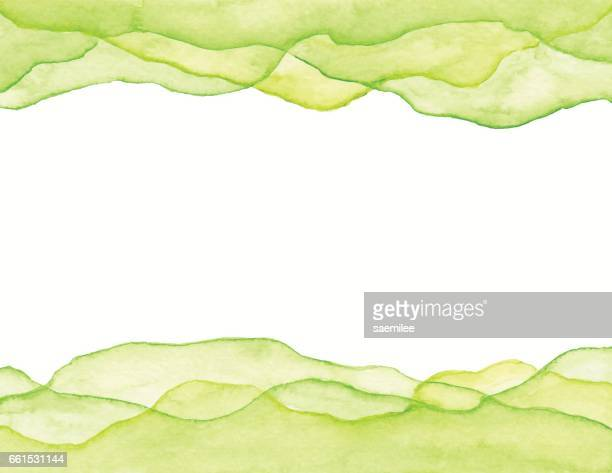 Watercolor Green Waves