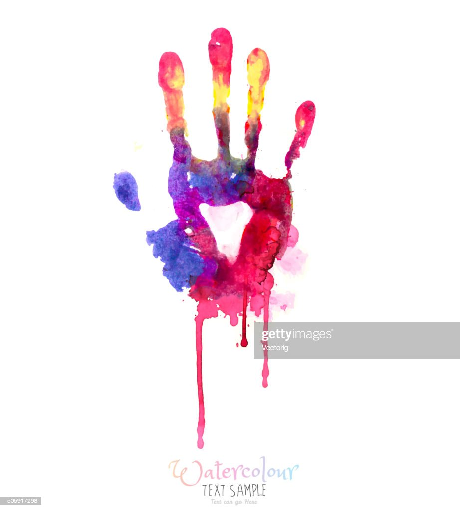 Watercolor Hand Illustration : Stock Illustration