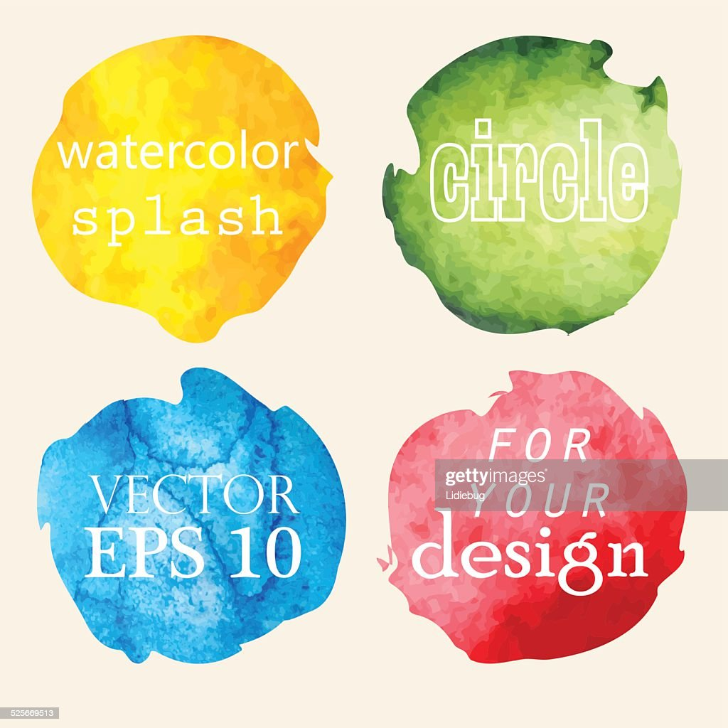 Watercolor hand painted circles
