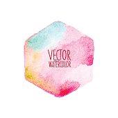 Watercolor hexagon stain.