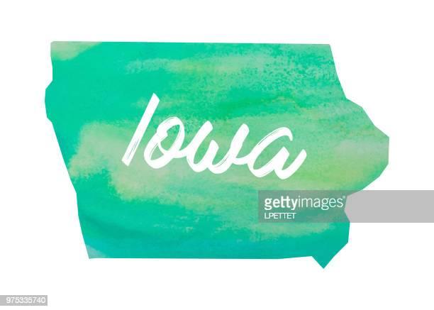 Watercolor Iowa