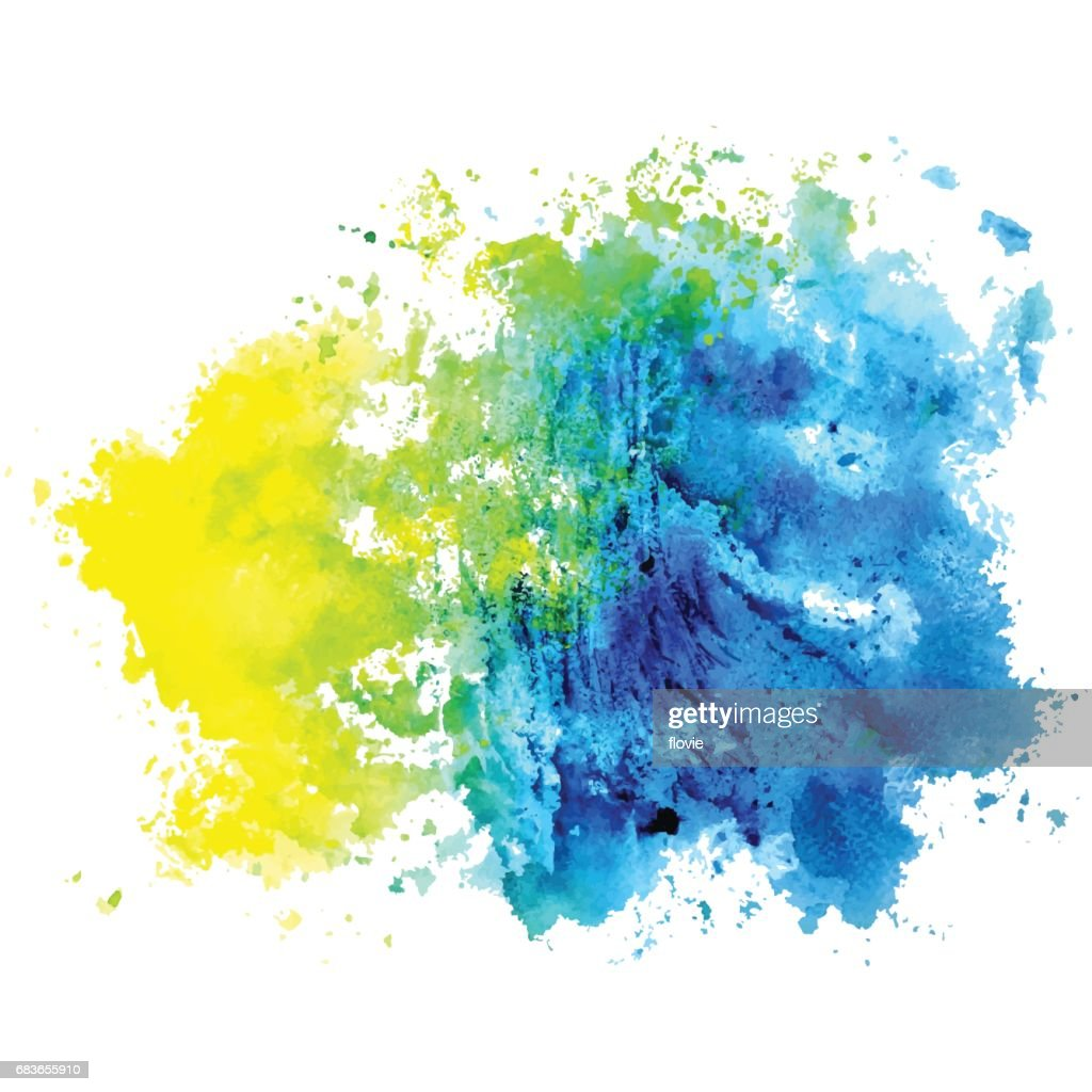 Watercolor isolated spot on a white background.