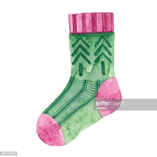 Watercolor Knit Sock