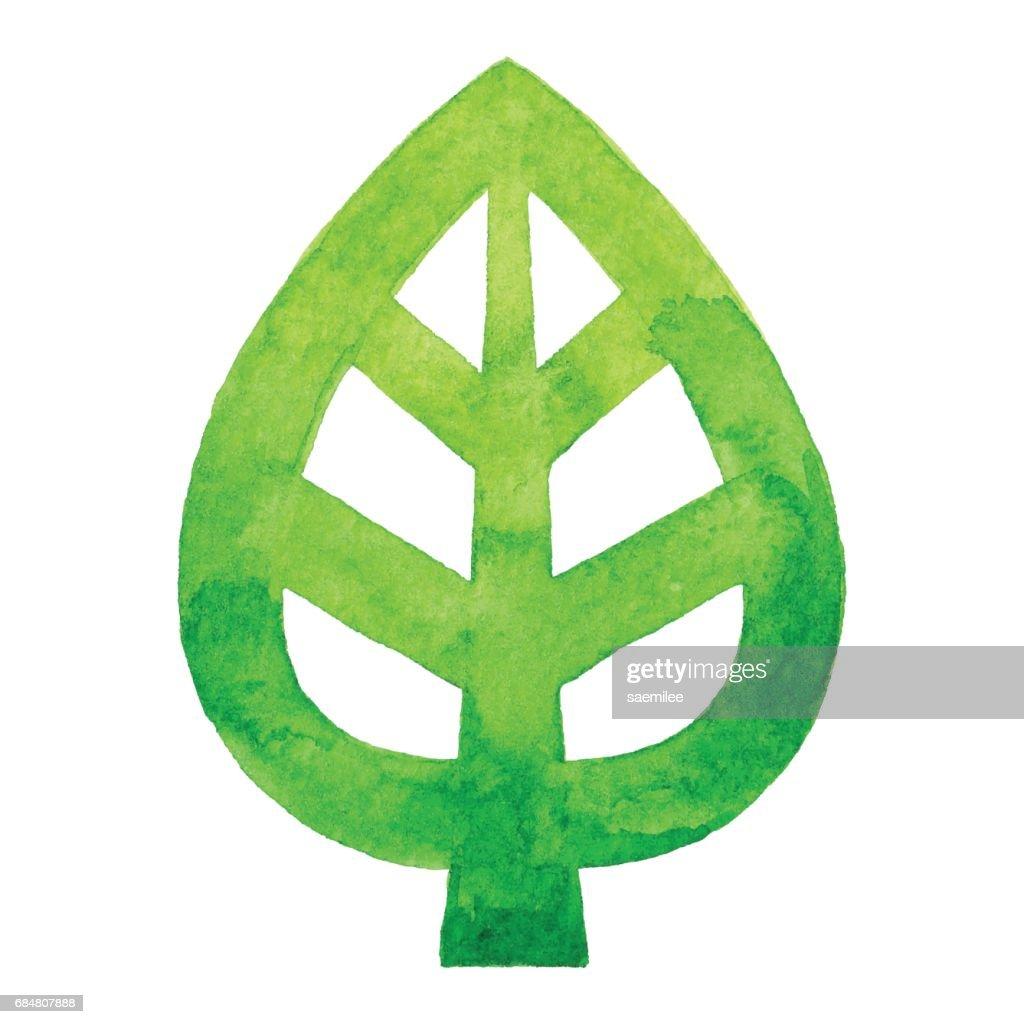 Watercolor Leaf Logo