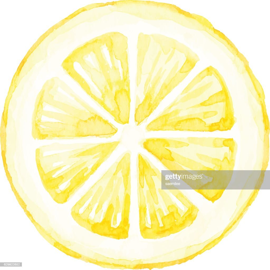 Watercolor Lemon Slice