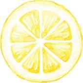 Watercolor Lemon Slice