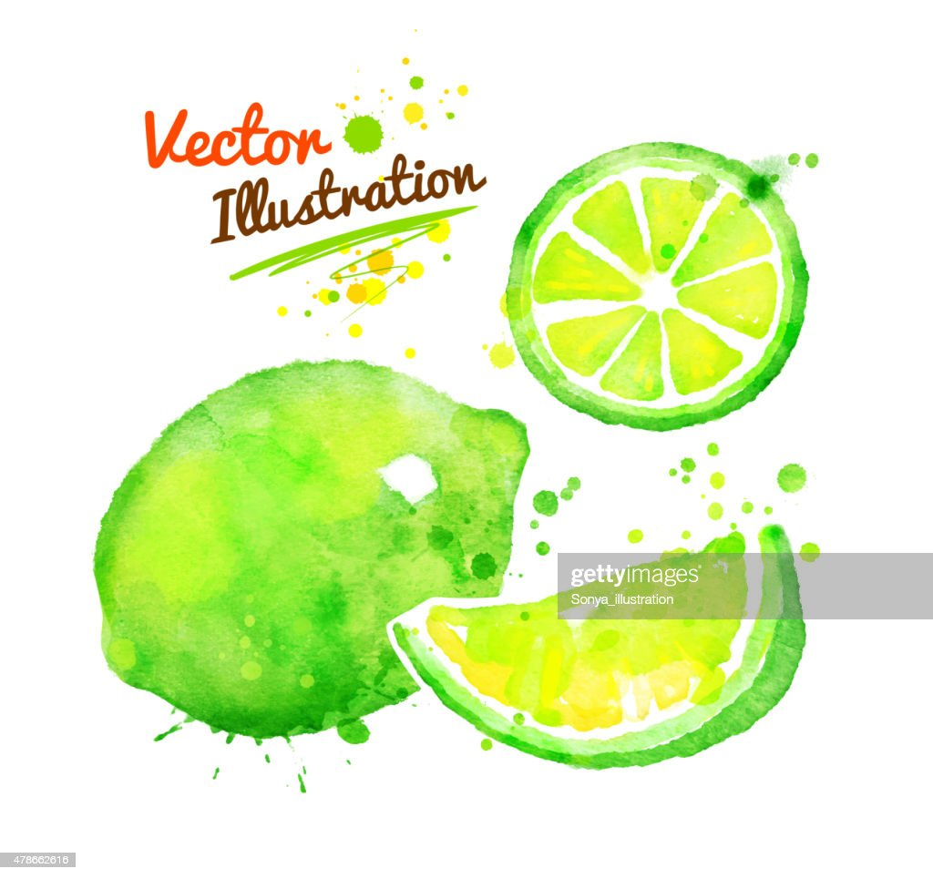Watercolor lime.