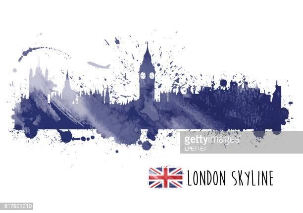Aquarell London Skyline