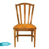 Wood Chair Clipart