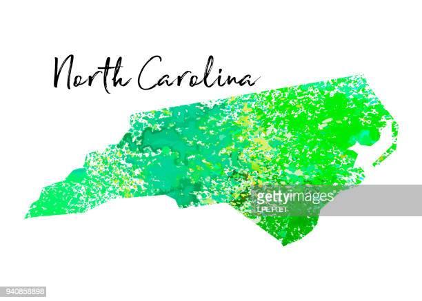 watercolor north carolina - north carolina us state stock illustrations
