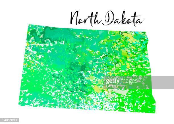 Watercolor North Dakota
