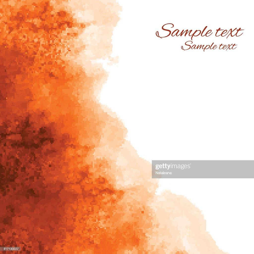 Watercolor orange background texture
