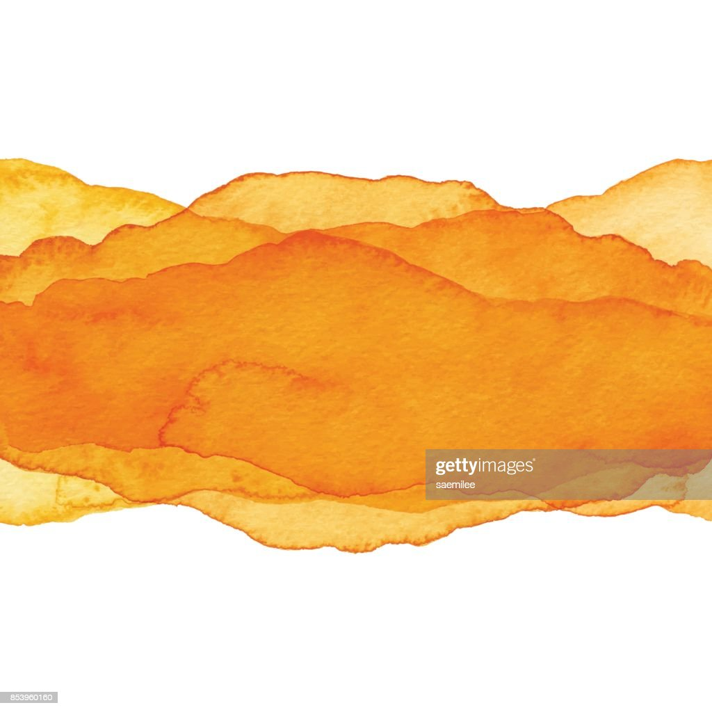Watercolor Orange Color Wave Background