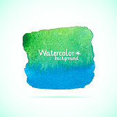 Watercolor painted banner
