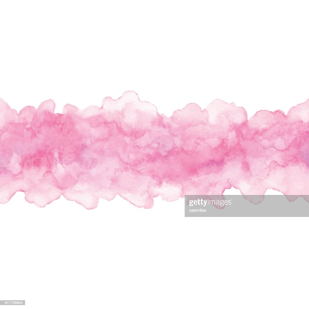 Watercolor Pink Ombre background Horizntal
