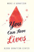 watercolor poster for blood donating