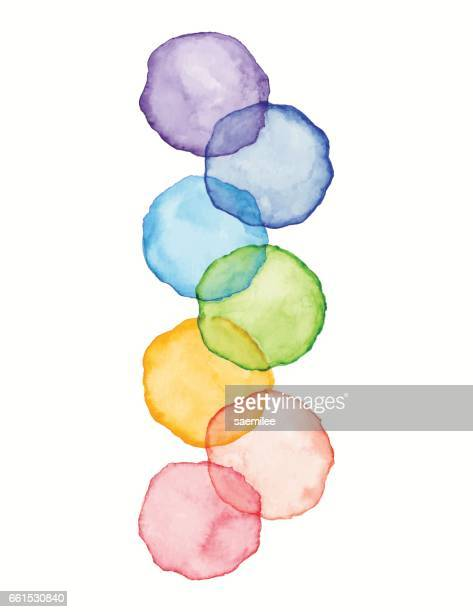 Watercolor Rainbow Dots