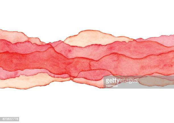 Watercolor Red Wave Background