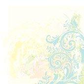 Watercolor Scrollwork Grunge