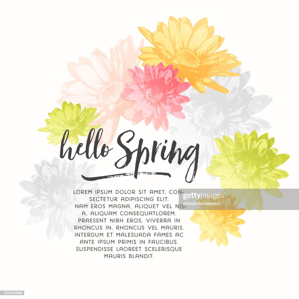 Watercolor Spring Flowers Vector Art Getty Images