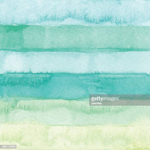 Watercolor Stripes Background Green