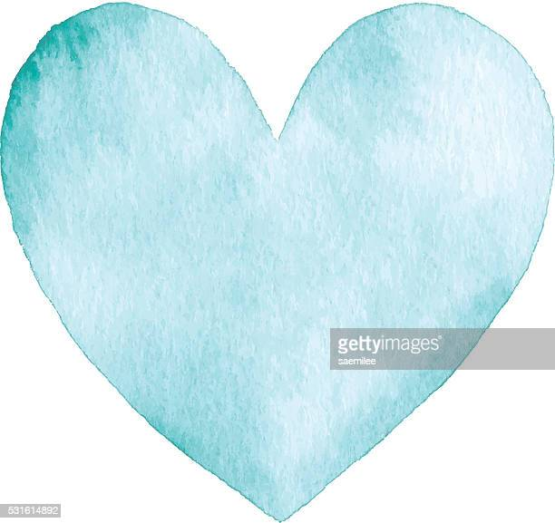 Watercolor Turquoise Heart