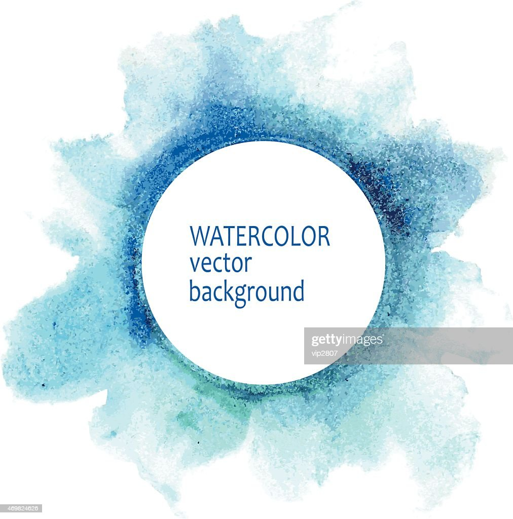Watercolor vector background in blues