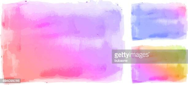 Watercolor Vector Background on Textured Paper Abstract Illustration