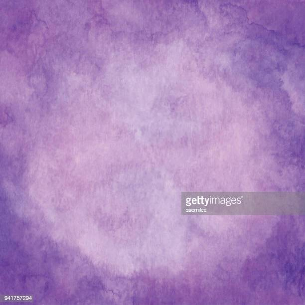 watercolor violet color gradient frame - purple stock illustrations