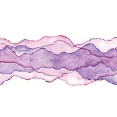 Watercolor Waves Purple