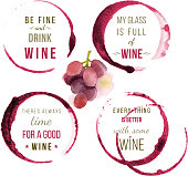 watercolor wine type designs