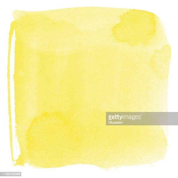 watercolor yellow background - yellow stock illustrations