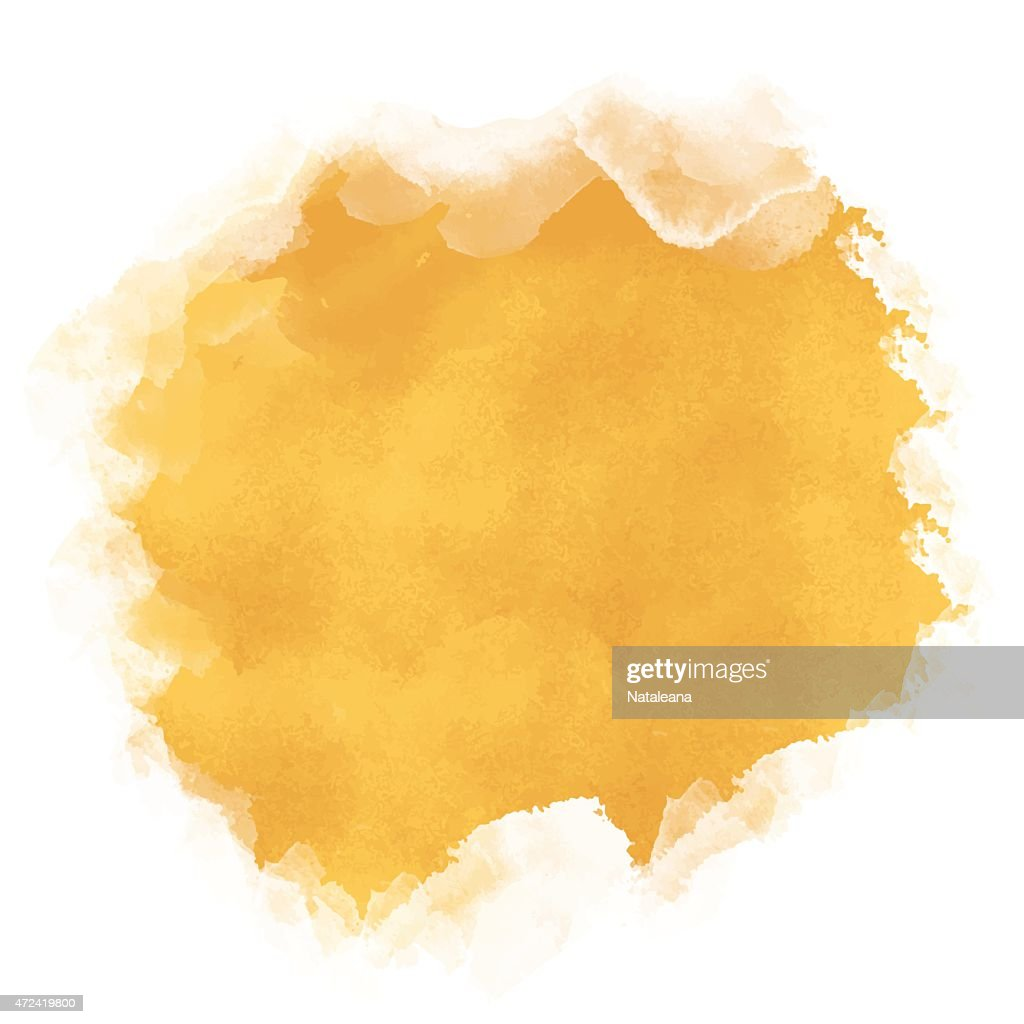 Watercolor yellow sand rough spot