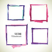 Watercolor-frame-violet