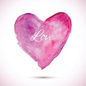 Watercolor-pink-love