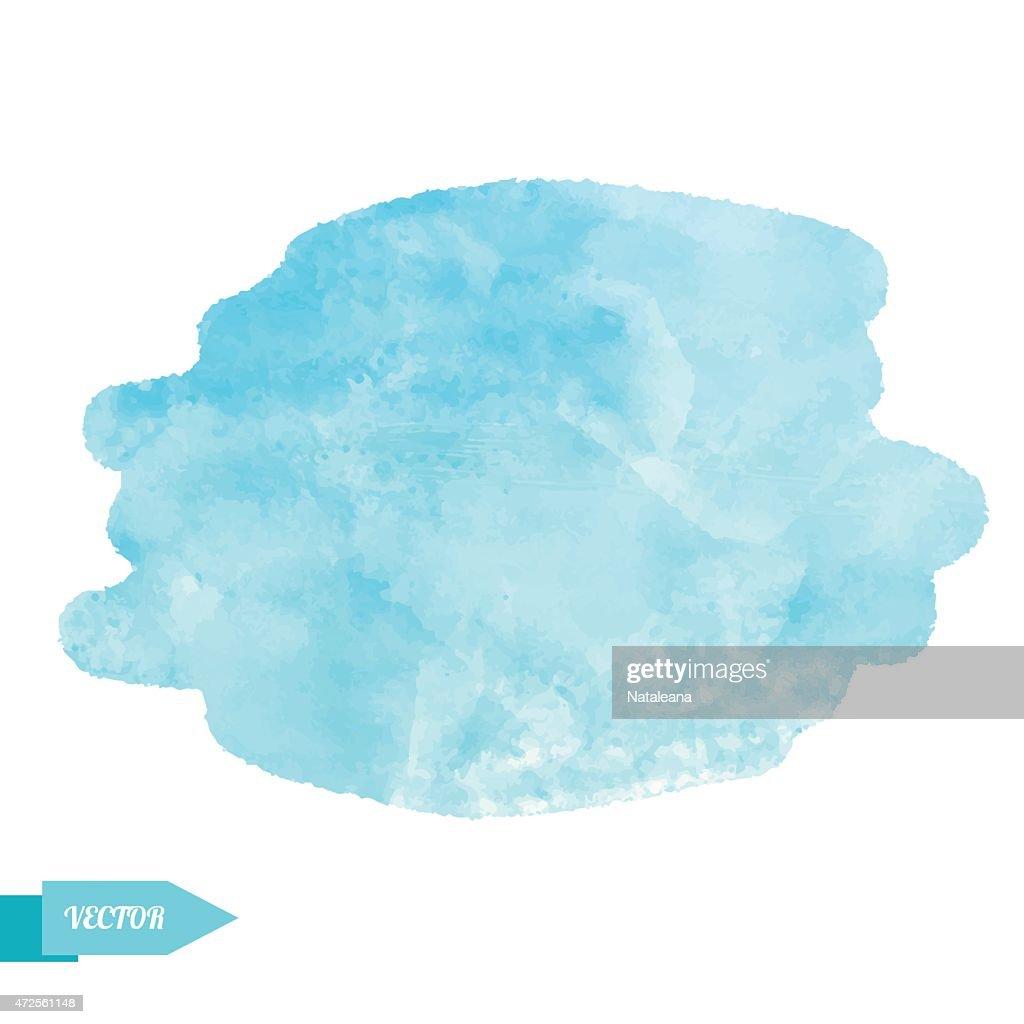 A watercolour blue paint stain