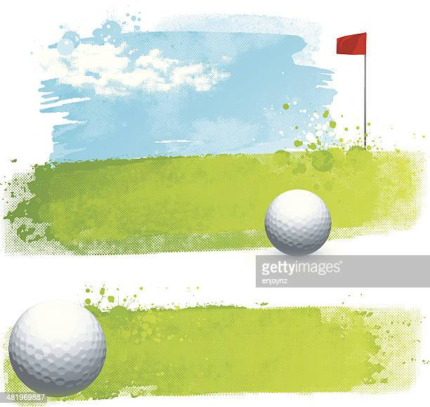 Watercolour golf backgrounds