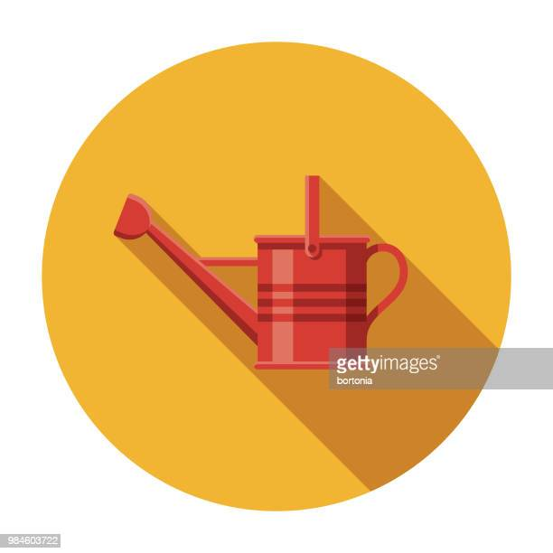 watering can flat design agriculture icon - watering can stock illustrations, clip art, cartoons, & icons